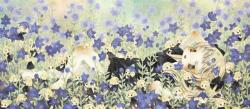 金田涼子/Ryoko Kaneta 《夕涼み/evening breeze》 2014, 35×80cm, 13 3/4x31 1/2in., acrylic on canvas