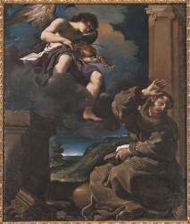 グエルチーノ《聖フランチェスコの法悦》1620年 油彩/カンヴァス チェント、ファーヴァコレクション