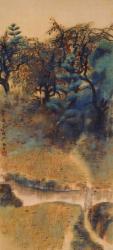 速水御舟  《山科秋》 1917(大正6)年 絹本・彩色 山種美術館