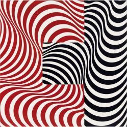 フランコ・グリニャーニ 《波の接合 33》 1965年 油彩・カンヴァス