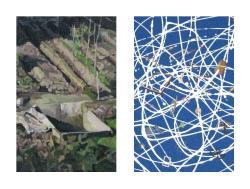 """*Details of """"iron will"""" by Tomoko Atsuchi and """"xyz_(blue)"""" by Kohei Yamashita"""