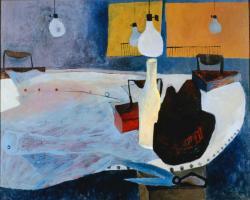 《アイロンのある静物》 1952年 油彩、カンヴァス 東京国立近代美術館蔵