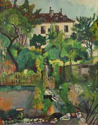 スュザンヌ・ヴァラドン 《コルト通り12番地、モンマルトル》 1919年 油彩、キャンヴァス 92×73㎝ 個人蔵
