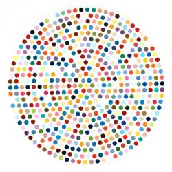DAMIEN HIRST《ZINC SULFIDE》2004, Φ182.9cm, Φ72in., household gloss on canvas