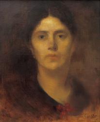 ウジェーヌ・カリエール 《カリエール夫人》 1883年 油彩/キャンヴァス45×34cm  個人蔵 photo © Yves Le Sidaner