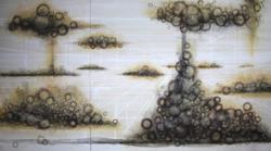 Eruption Pigments, oil, pastel on paper 121.2x218.1cm  2013
