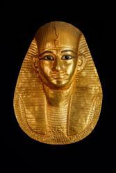 アメンエムオペト王の黄金のマスク 第3中間期 第21王朝 アメンエムオペト王の治世 (前993~984年頃)国立カイロ博物館所蔵