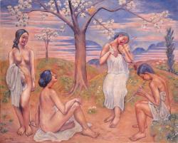 斎藤与里《春》1918年