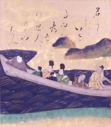 俵屋宗達《伊勢物語・墨田川図》17世紀 メナード美術館蔵