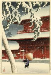 川瀬巴水 東京二十景『芝増上寺』1925(大正14)年 制作