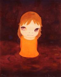 奈良 美智 「After the Acid Rain(Night Version)」 2010年 木版画 ed.50 サイン有