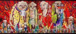 村上隆 《五百羅漢図》(部分) 2012年 アクリル、キャンバス、板にマウント 302×10,000cm ©2012 Takashi Murakami/Kaikai Kiki Co,. Ltd. All Rights Reserved.