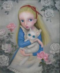 長谷川 友美 「思い出の中の少女」 2012年 油彩;キャンバス