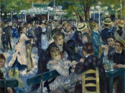 《ムーラン・ド・ラ・ギャレットの舞踏会》 1876年 油彩/カンヴァス オルセー美術館 ©Musée d'Orsay, Dist. RMN-Grand Palais / Patrice Schmidt / distributed by AMF