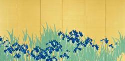 木島櫻谷 「燕子花図」(右隻) 大正6年(1917) 泉屋博古館分館