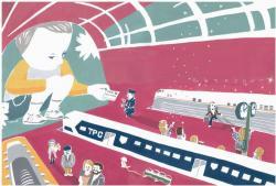 ひみつのコリドー イラストレーター・フカザワテツヤ展示会 (Galleryやさしい予感 2010/10/27-11/1)