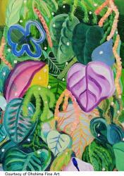 「metsaの葉に覆われて-色彩胞と線の間で-」 (OhshimaFineArt 2010/10/29~11/20)