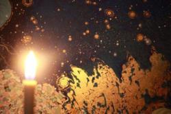菅かおる展「水中トリップ」?燭の灯でみる水の絵 (ギャラリーアンテナ)