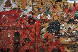 「地獄図 ~山本版~」(部分) 2010 キャンバスにアクリル 360.2x381.3cm 撮影者:宮島径