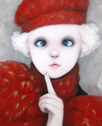 "HIROMI""something lolita"" 2010、キャンバス、油彩 50x40cm (c) HIROMI Courtesy Mizuma Action"