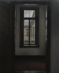 """福田真規 """"物影""""  2011 油彩・キャンバス 100×80.3cm"""