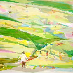 齋藤周 「本来の道」 2011年 / 1167×1167mm / 木製パネルにアクリル