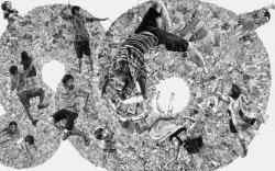 《より未来へ》2010 パネル、ジェッソ、鉛筆 227x363.6cm (c)KUMAZAWA Mikiko Courtesy Mizuma Art Gallery
