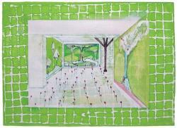 """大谷有花 「対話の記憶」のためのドローイング (1)"""" 2011 年 アクリル、水彩、紙 255 x 360mm ©Yuka Ohtani"""