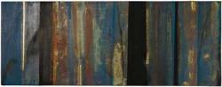 有森正 「スペクトルブルー」 2010年  テンペラ、金箔、和紙 20.3×53cm