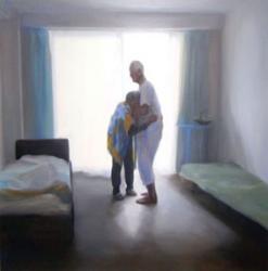 一色映理子 作品タイトル:終わらない世界 素材:キャンバス・油彩 サイズ:162×162cm 制作年:2011