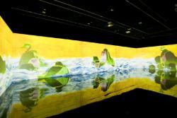 チームラボ 百年海図巻 アニメーションのジオラマ 2009 映像インスタレーション 10min. 00sec. (15000x1875mm) (c)TEAMLAB