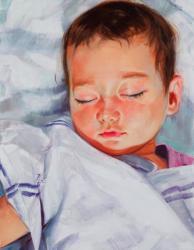 小西真奈 Alex Sleeping (August, 2011) 2011年 h.41 × w.32 cm oil on canvas photo: Ikuhiro Watanabe