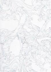 法貴信也 無題, 2011 年 紙に色鉛筆 25.5 x 18 cm