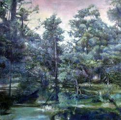 塩賀史子 「明滅の庭」 2012年 / 116.7×116.7cm(S50号) / キャンバスに油彩