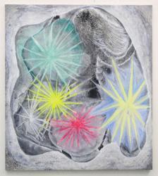 "Kyoko Murase ""Shiny in the Dark"", 2012  Oil, crayon on cotton  115 x 100 cm Photo: Yasushi Ichikawa"