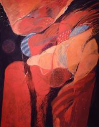 案内状作品「アマポーラ」 F80 油彩
