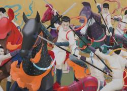 天明屋尚 「韻」(部分) 2012 全体サイズ 126.5x300cm 木、金箔、アクリル絵具 (c)TENMYOUYA Hisashi