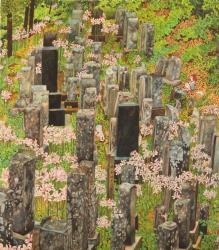 辻川奈美「墓地水仙」 素材:紙、水彩絵具 サイズ:295mm × 257mm NAMI TUJIKAWA, Courtesy of TENGAI GALLERY