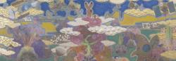 TOUGEN No.73 2012 パネル、麻紙、岩絵具、アクリル、箔 40x100cm