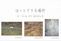 ほっとできる場所(GalleryQ 2013/2/4-2/9)