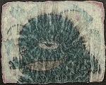 風見規文 作品名「緑の獣が描かれた壁画片」
