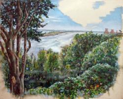 Claudia Ahlering 作品画像 「Süllberg」Claudia Ahlering, Oil on canvas