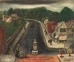 『 通り雨(ウッドストック ニューヨーク)』 1932年 油彩 51 x 61cm