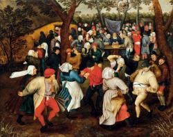 ピーテル・ブリューゲル2世 《野外での婚礼の踊り》 1610年頃 Private Collection