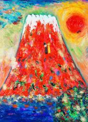 赤富士の夢