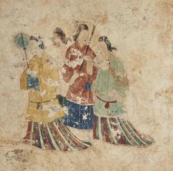 高松塚古墳壁画原寸大コロタイプ復元(部分) 便利堂蔵