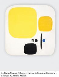 《穴のあるコンポジション》1950年、カーサペルラルテ=パオロ・ミノーリ財団 © Bruno Munari. All rights reserved to Maurizio Corraini srl. Courtesy by Alberto Munarl
