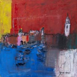 「Dubrovnik/ドゥブロヴニク」2011年 油彩・キャンバス 65.2×65.2cm