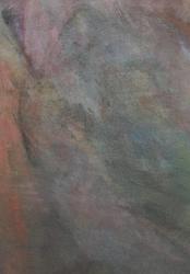 「ふたり」 和紙、岩絵具、膠 / 2021 / 265×187mm