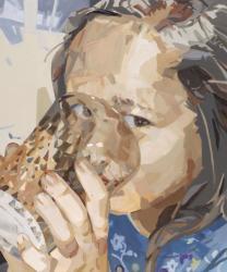 「Glass 」2017 油彩、キャンバス 60.6×50.0 ㎝
